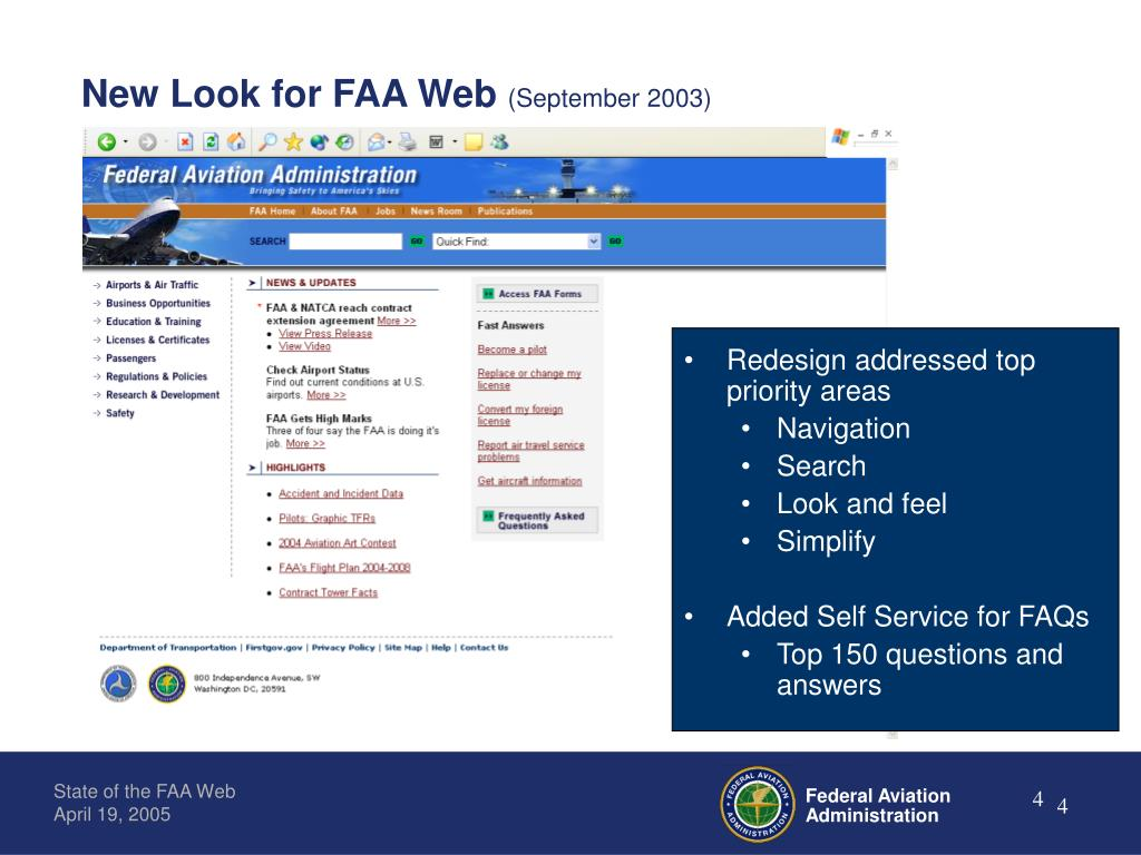 New Look for FAA Web