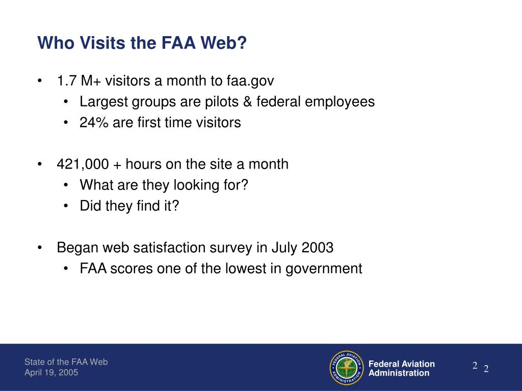 Who Visits the FAA Web?