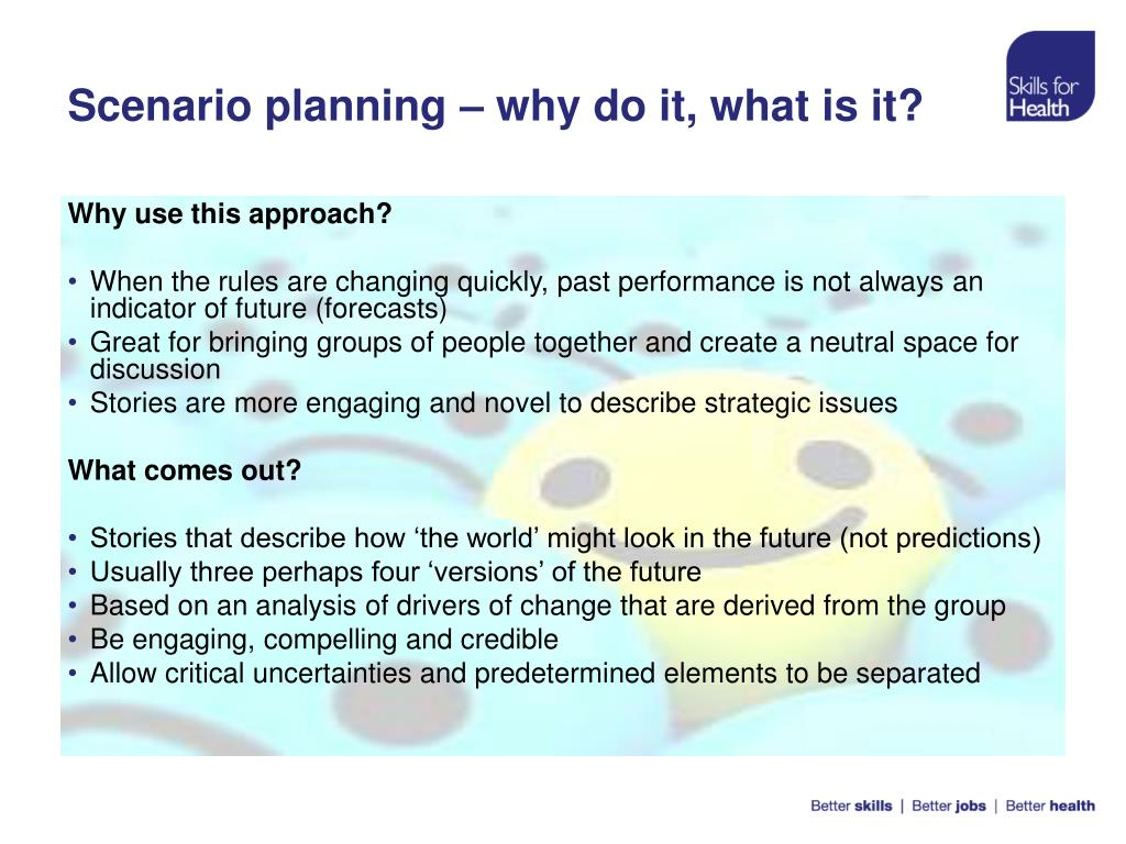Scenario planning – why do it, what is it?