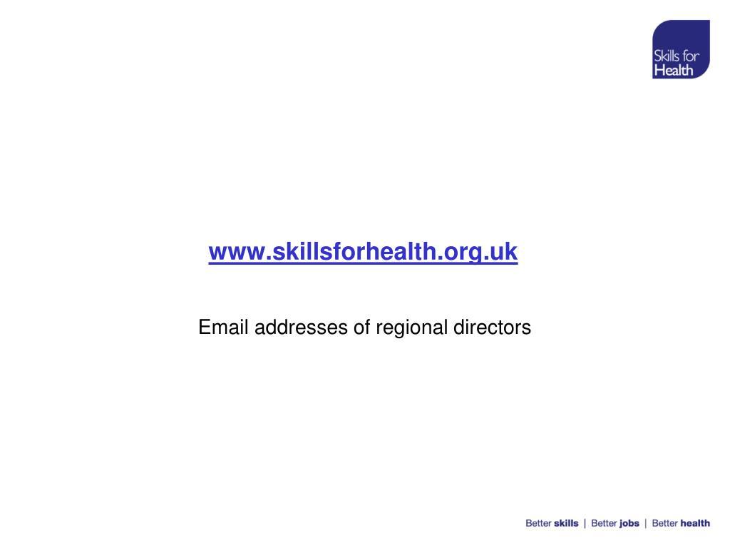 www.skillsforhealth.org.uk