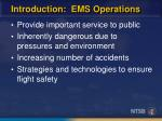 introduction ems operations
