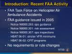 introduction recent faa activity