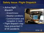 safety issue flight dispatch24