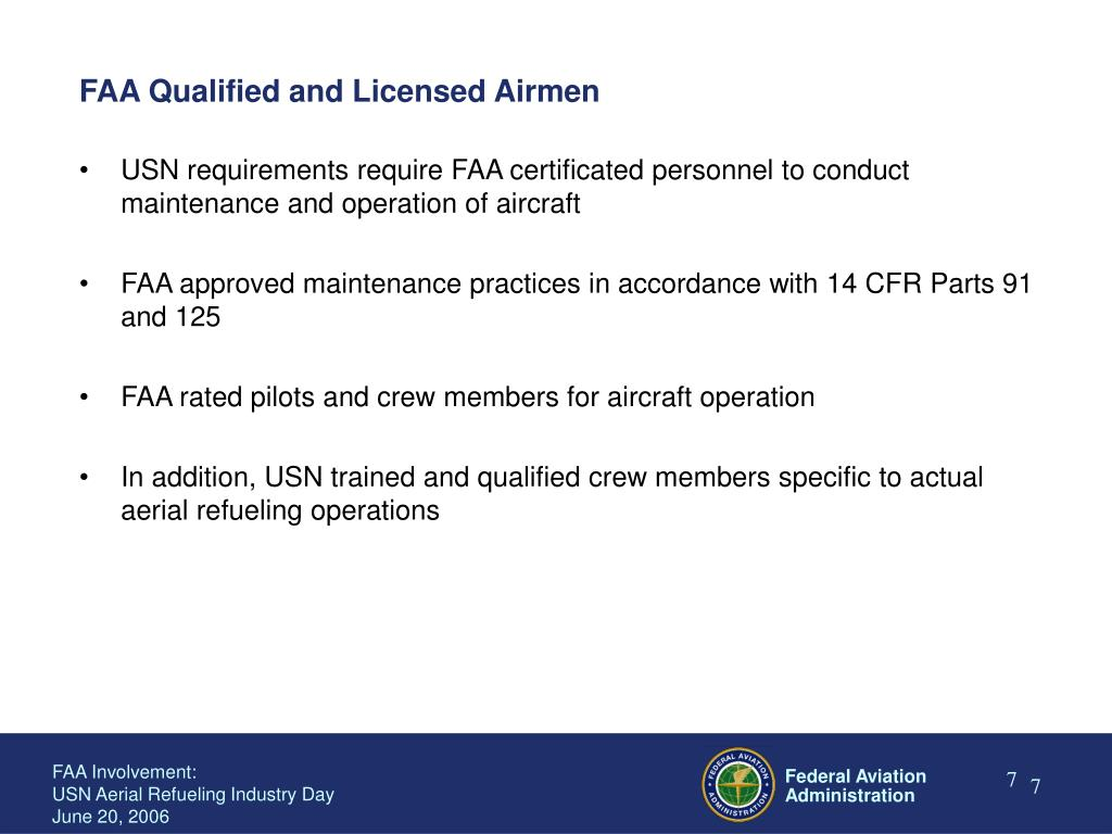 FAA Qualified and Licensed Airmen