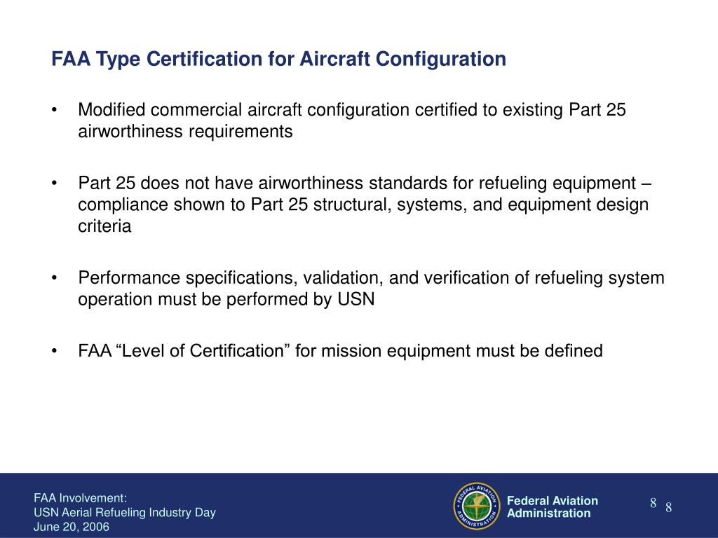 FAA Type Certification for Aircraft Configuration