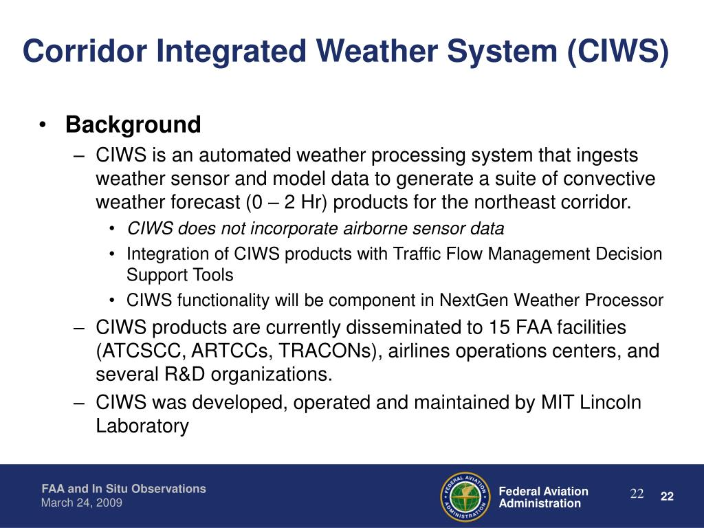 Corridor Integrated Weather System (CIWS)