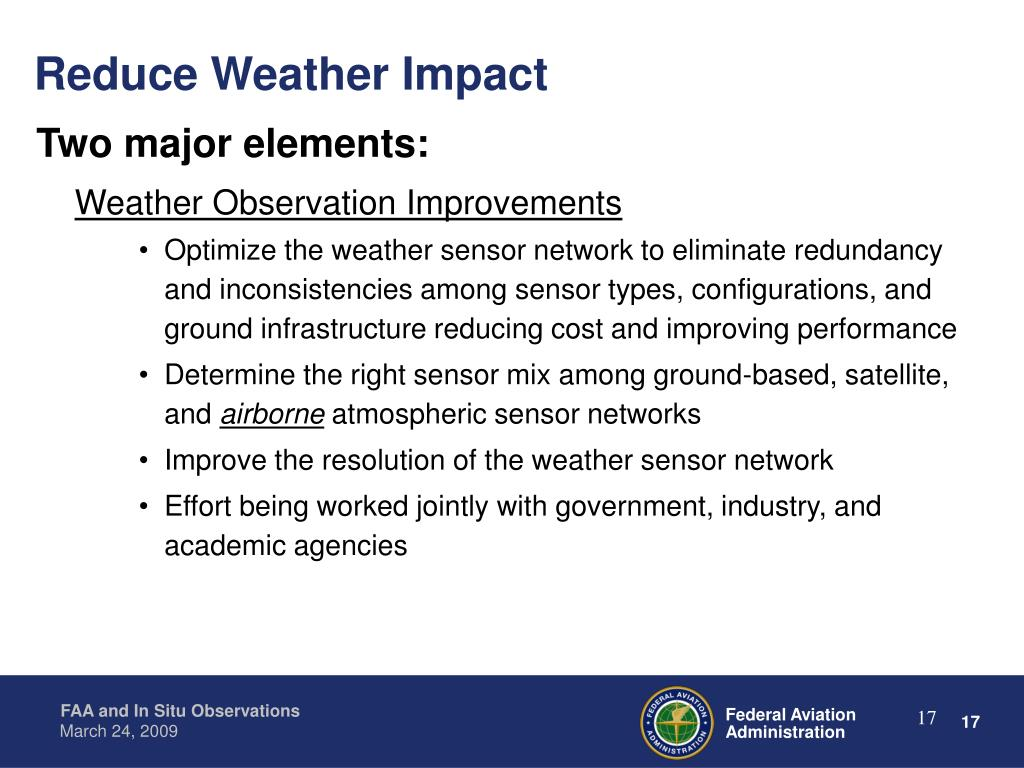 Reduce Weather Impact