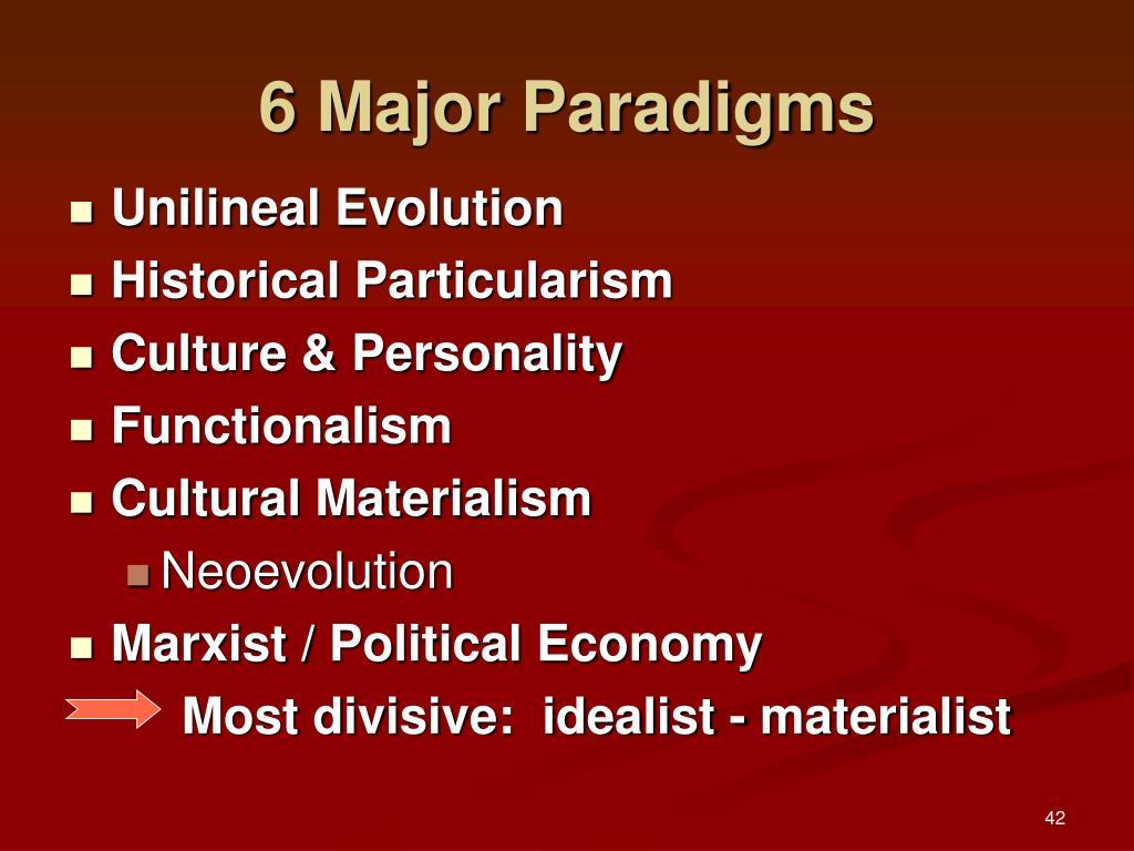6 Major Paradigms