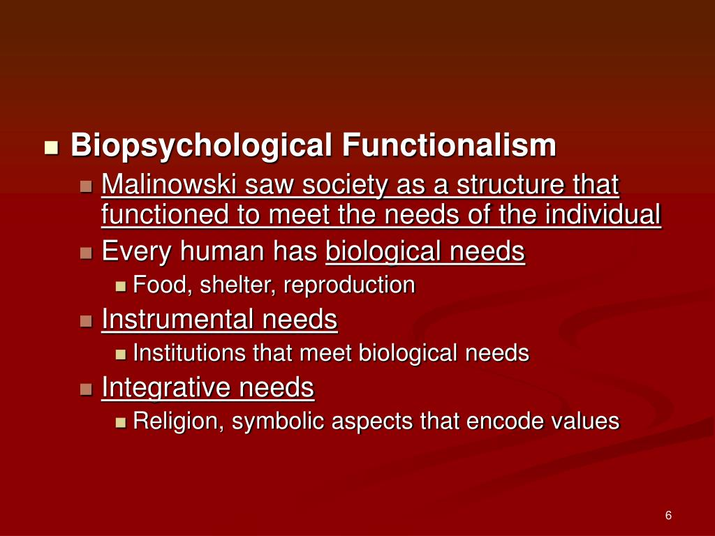 Biopsychological Functionalism