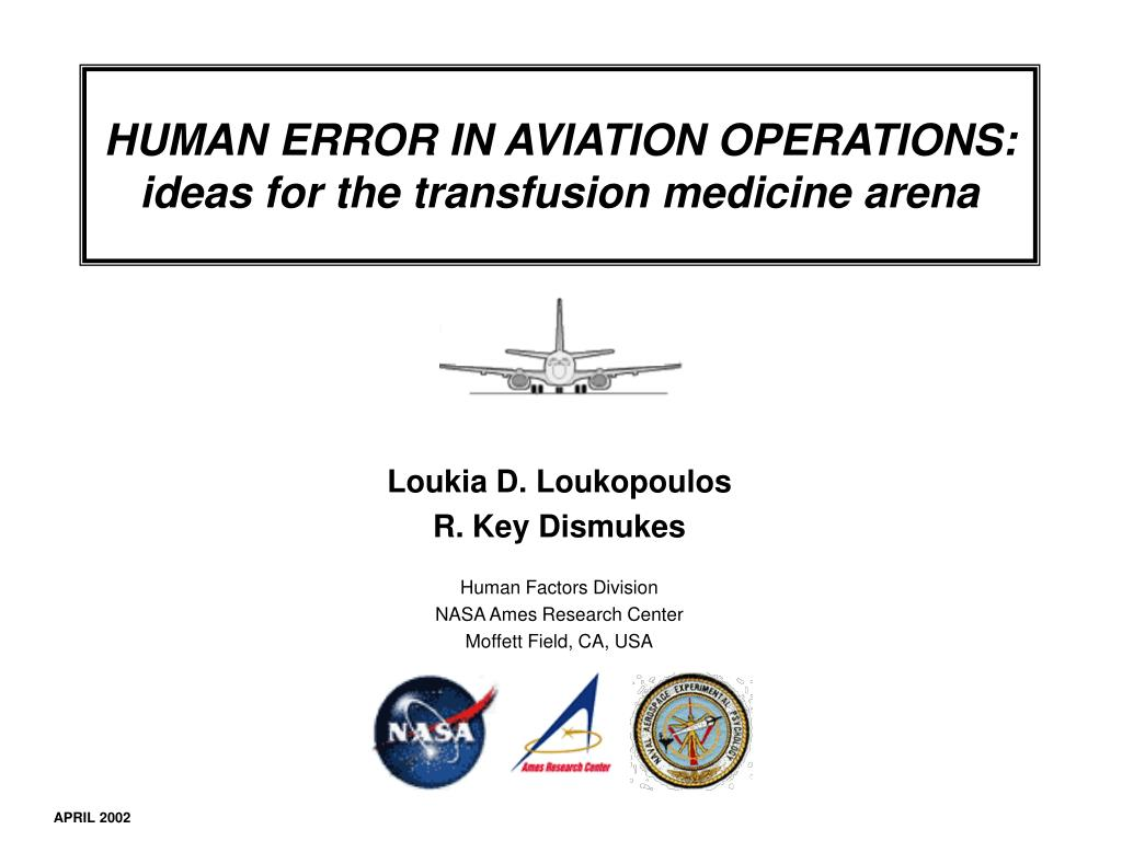 HUMAN ERROR IN AVIATION OPERATIONS: