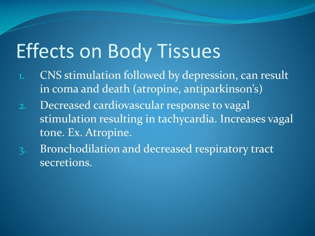Effects on Body Tissues
