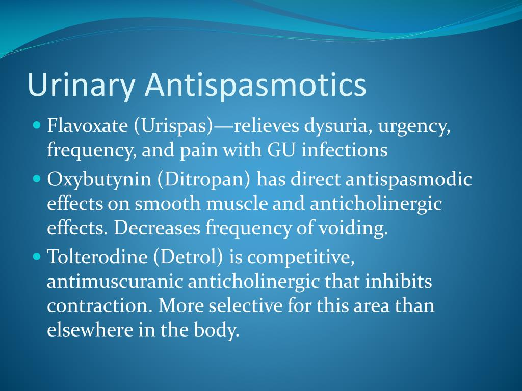 Urinary Antispasmotics