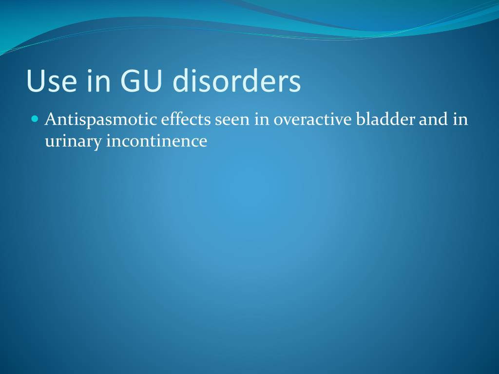 Use in GU disorders