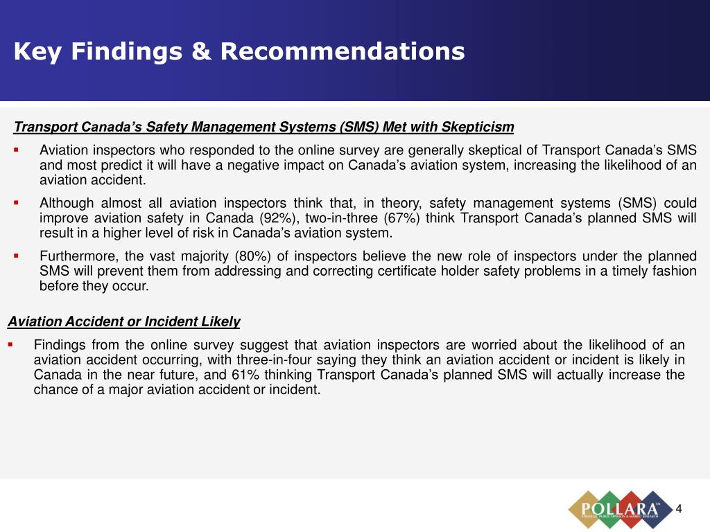 Key Findings & Recommendations