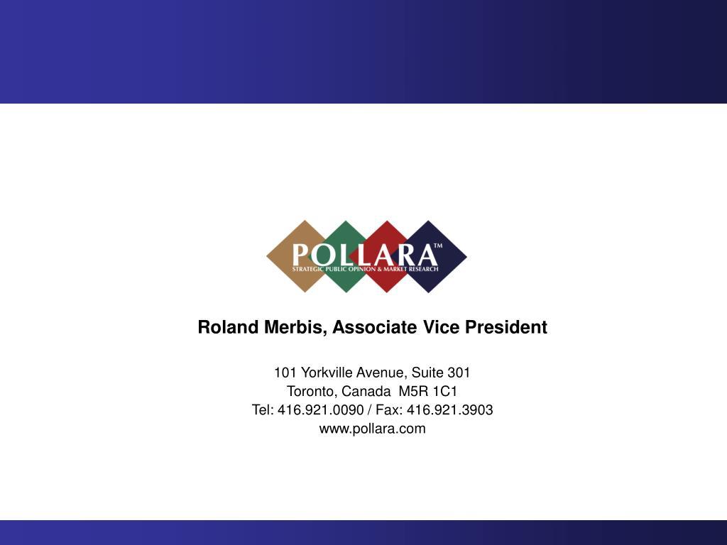 Roland Merbis, Associate Vice President