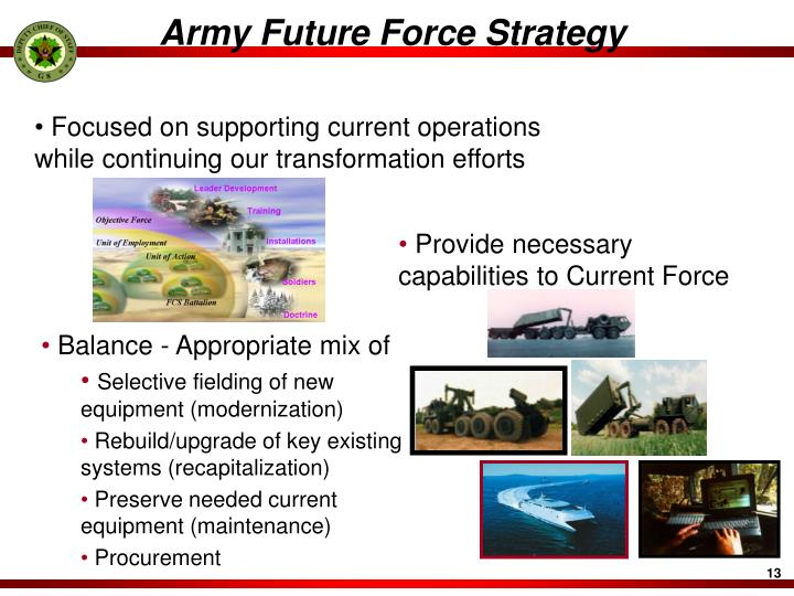 Army Future Force Strategy