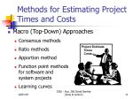 methods for estimating project times and costs