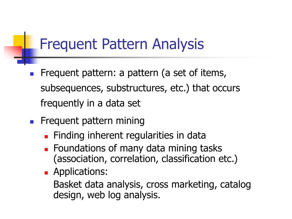 Frequent Pattern Analysis