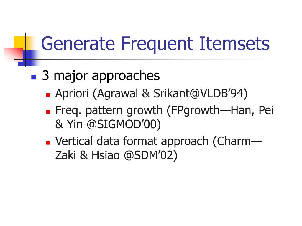 Generate Frequent Itemsets