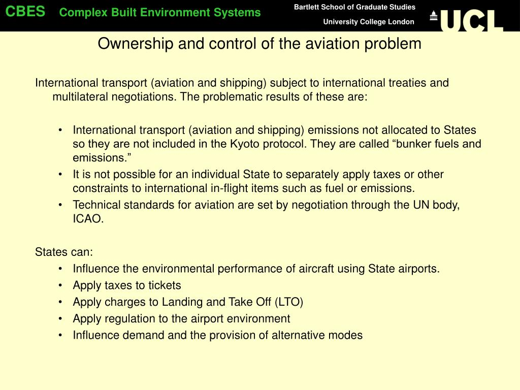 Ownership and control of the aviation problem