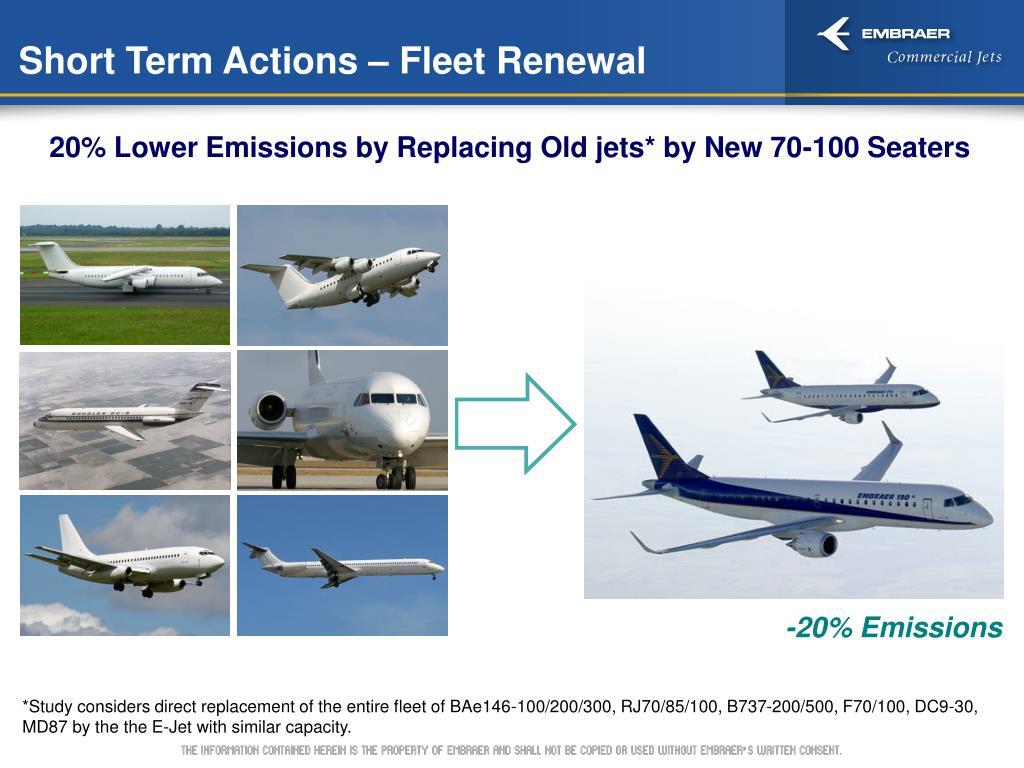 Short Term Actions – Fleet Renewal