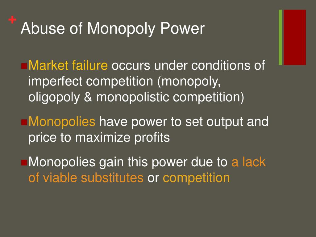 Abuse of Monopoly Power