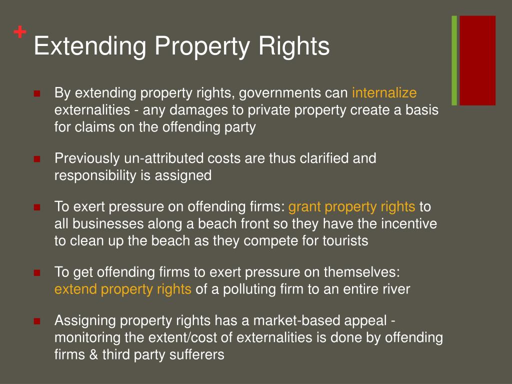 Extending Property Rights