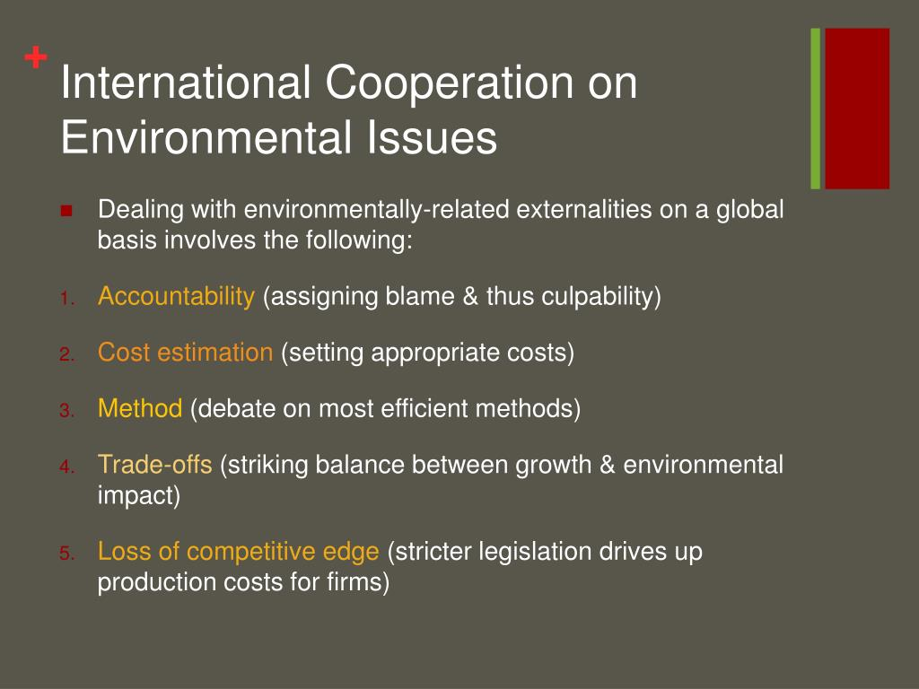 International Cooperation on Environmental Issues
