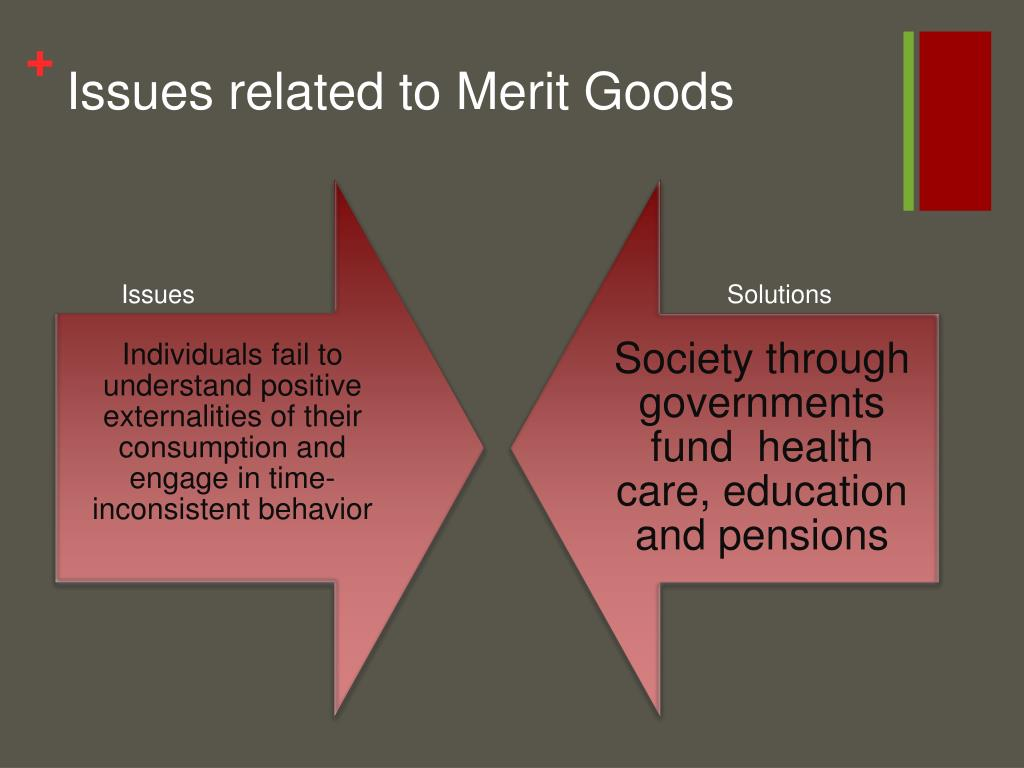 Issues related to Merit Goods