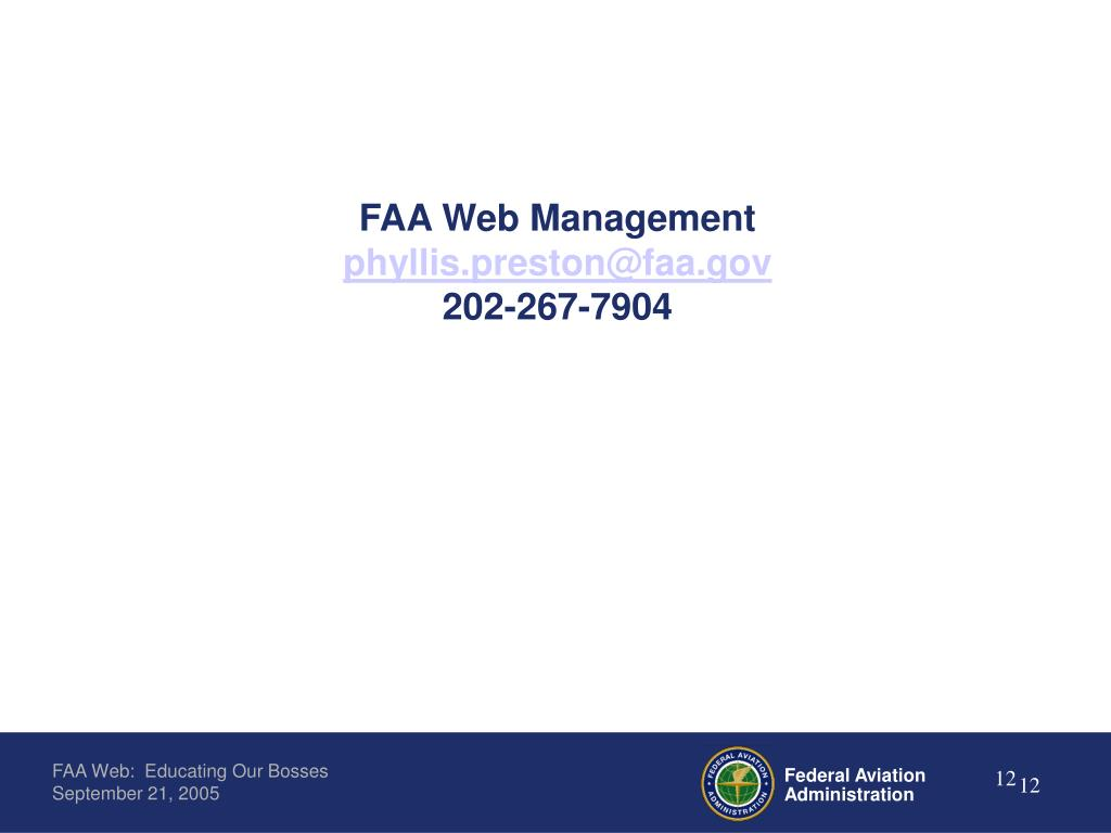 FAA Web Management