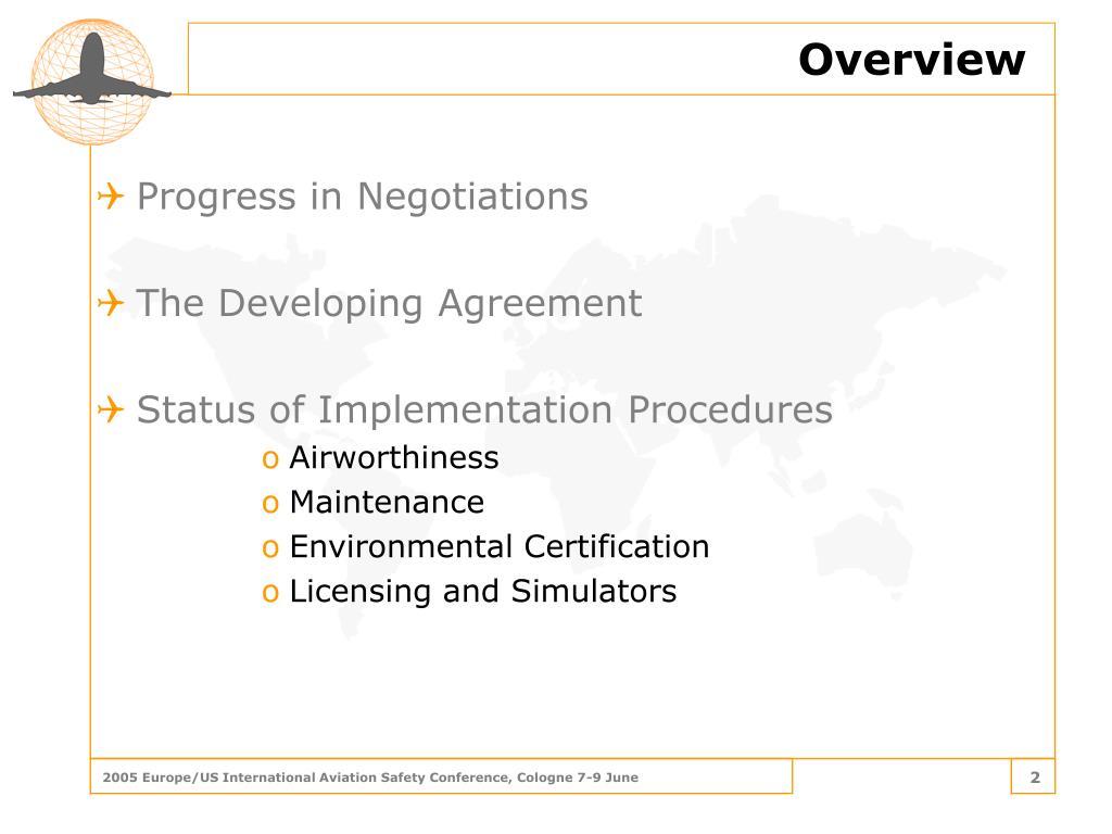 Progress in Negotiations