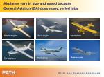 airplanes vary in size and speed because general aviation ga does many varied jobs