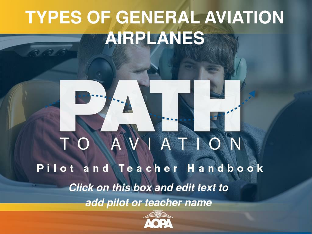TYPES OF GENERAL AVIATION AIRPLANES