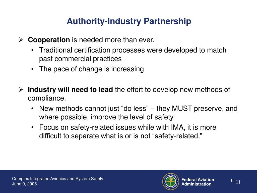 Authority-Industry Partnership