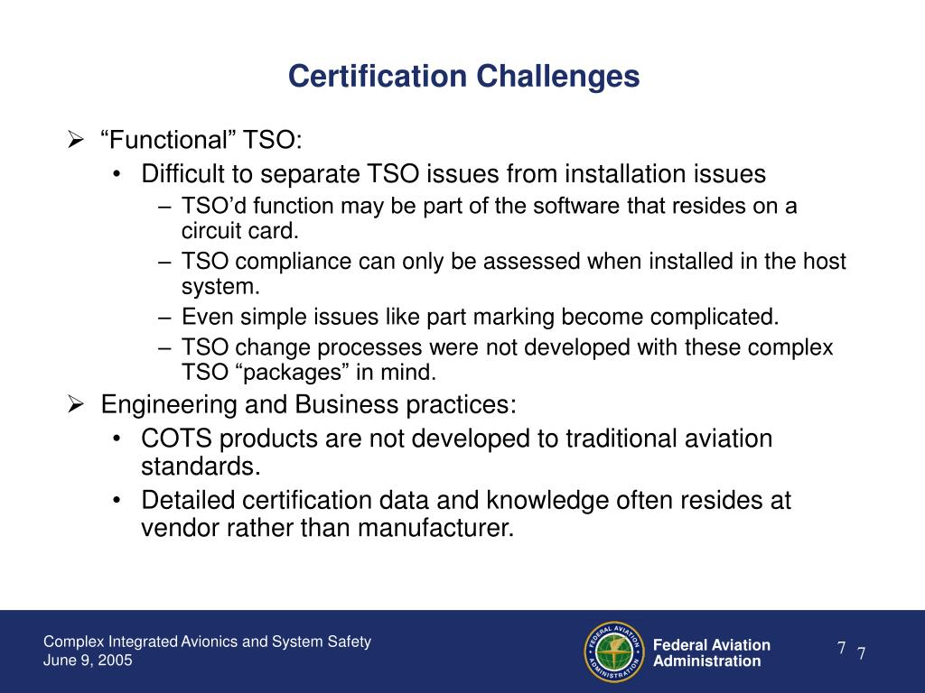 Certification Challenges