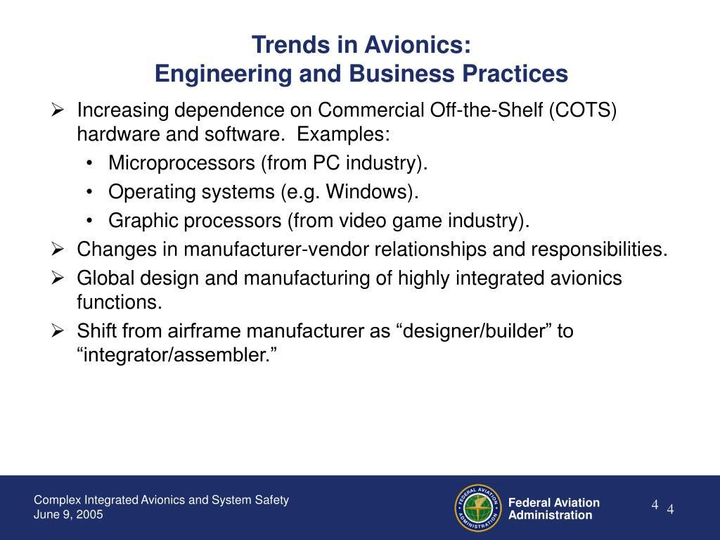 Trends in Avionics: