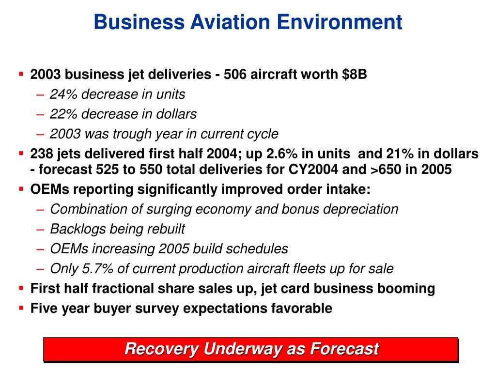 Business Aviation Environment
