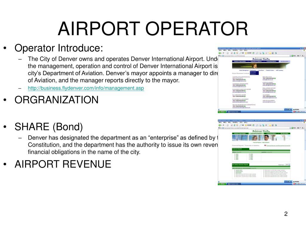 AIRPORT OPERATOR