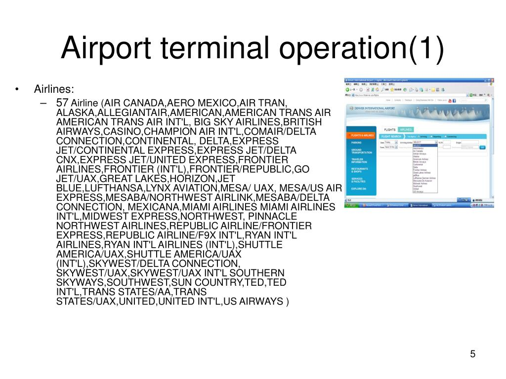 Airport terminal operation(1)