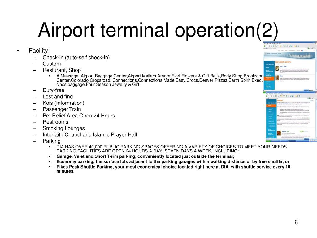 Airport terminal operation(2)