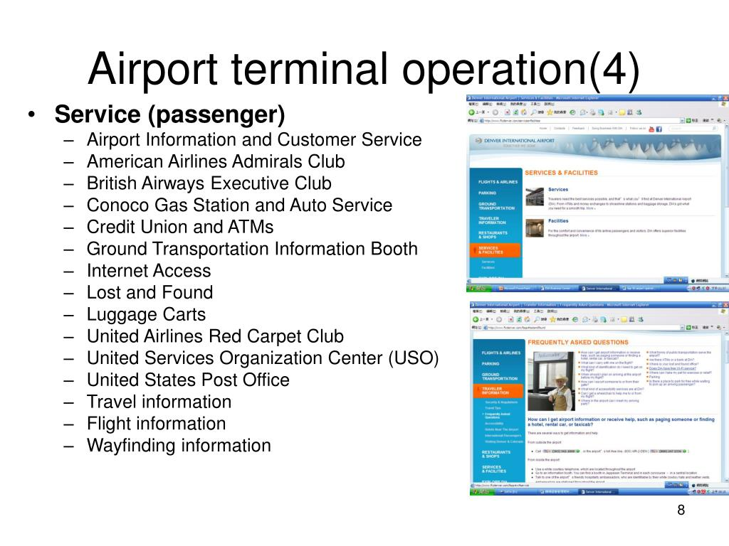 Airport terminal operation(4)