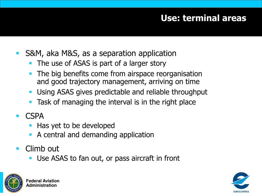 Use: terminal areas