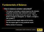 fundamentals of balance32