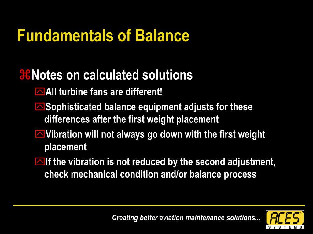 Fundamentals of Balance