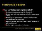 fundamentals of balance35