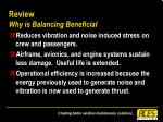 review why is balancing beneficial