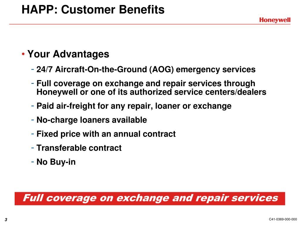 HAPP: Customer Benefits