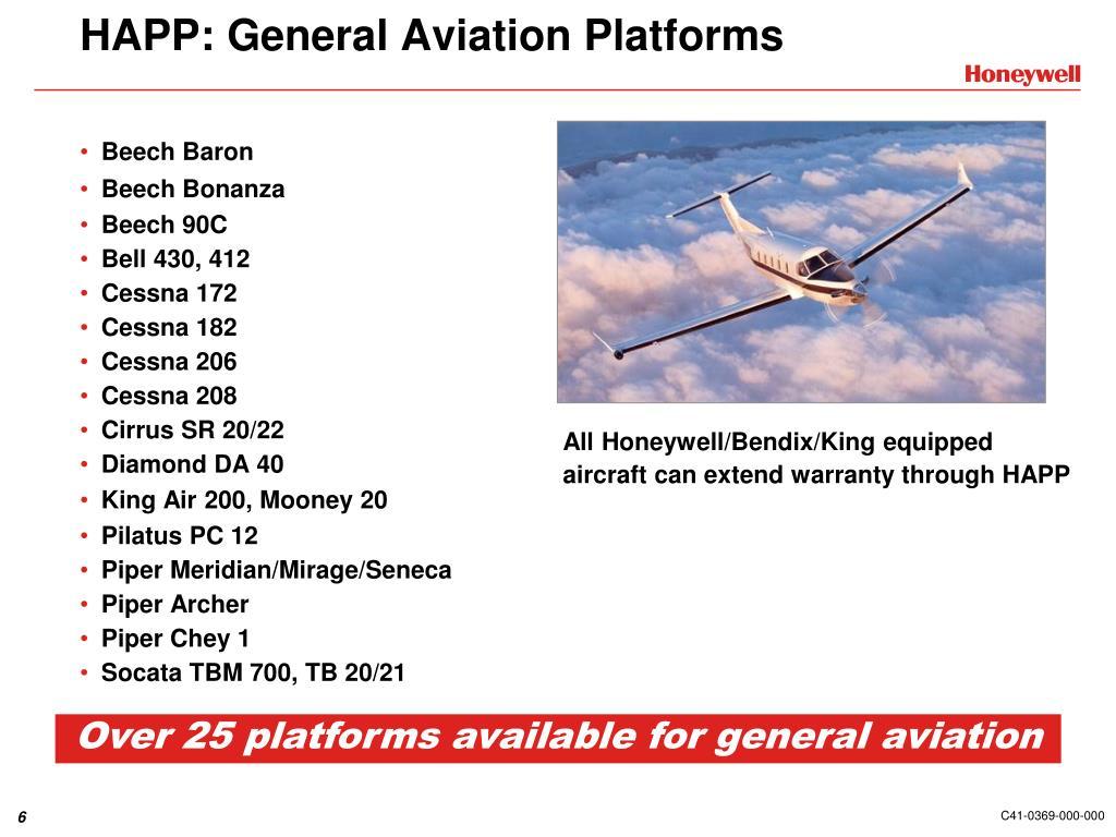 HAPP: General Aviation Platforms