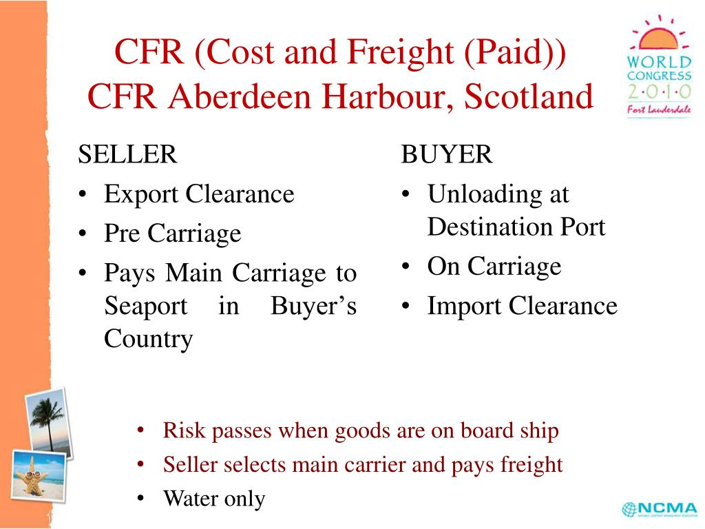 CFR (Cost and Freight (Paid))