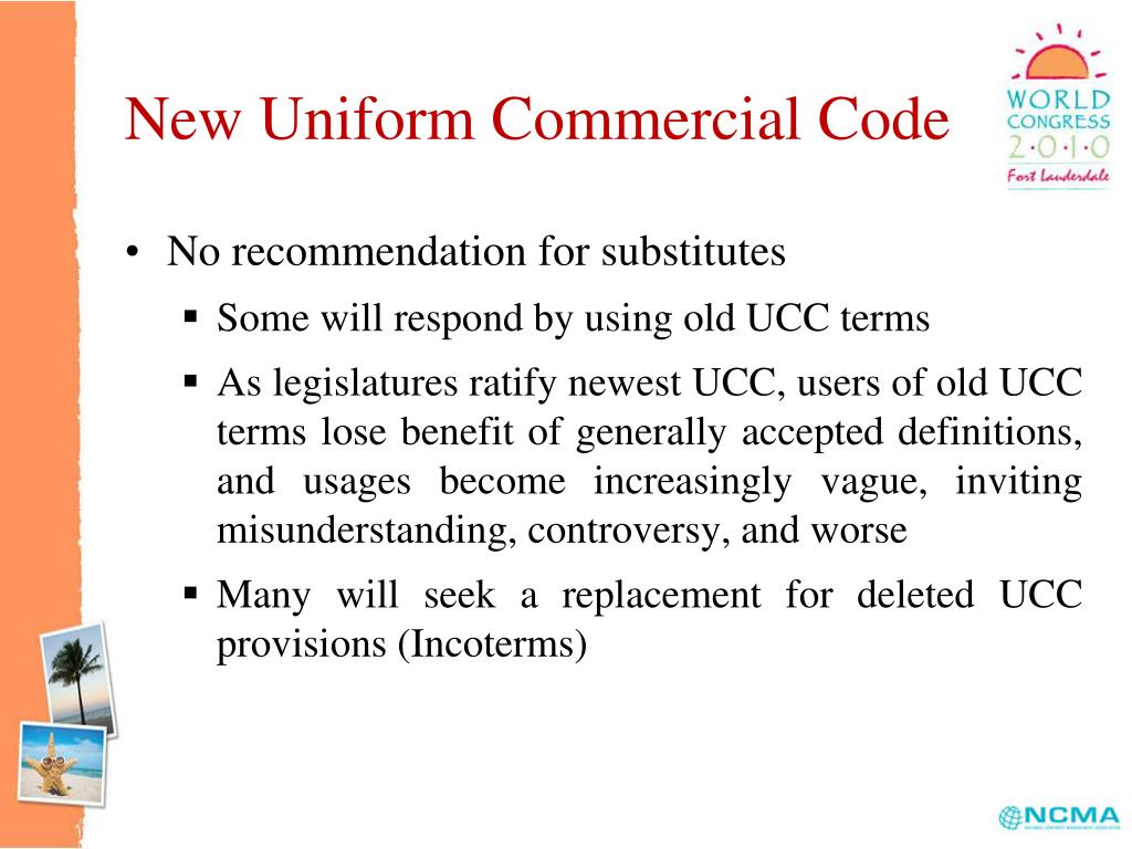 New Uniform Commercial Code